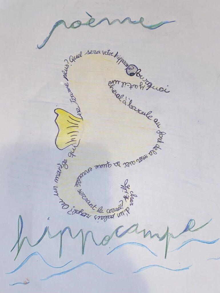 Resultado de imagen de caligrama frances mar