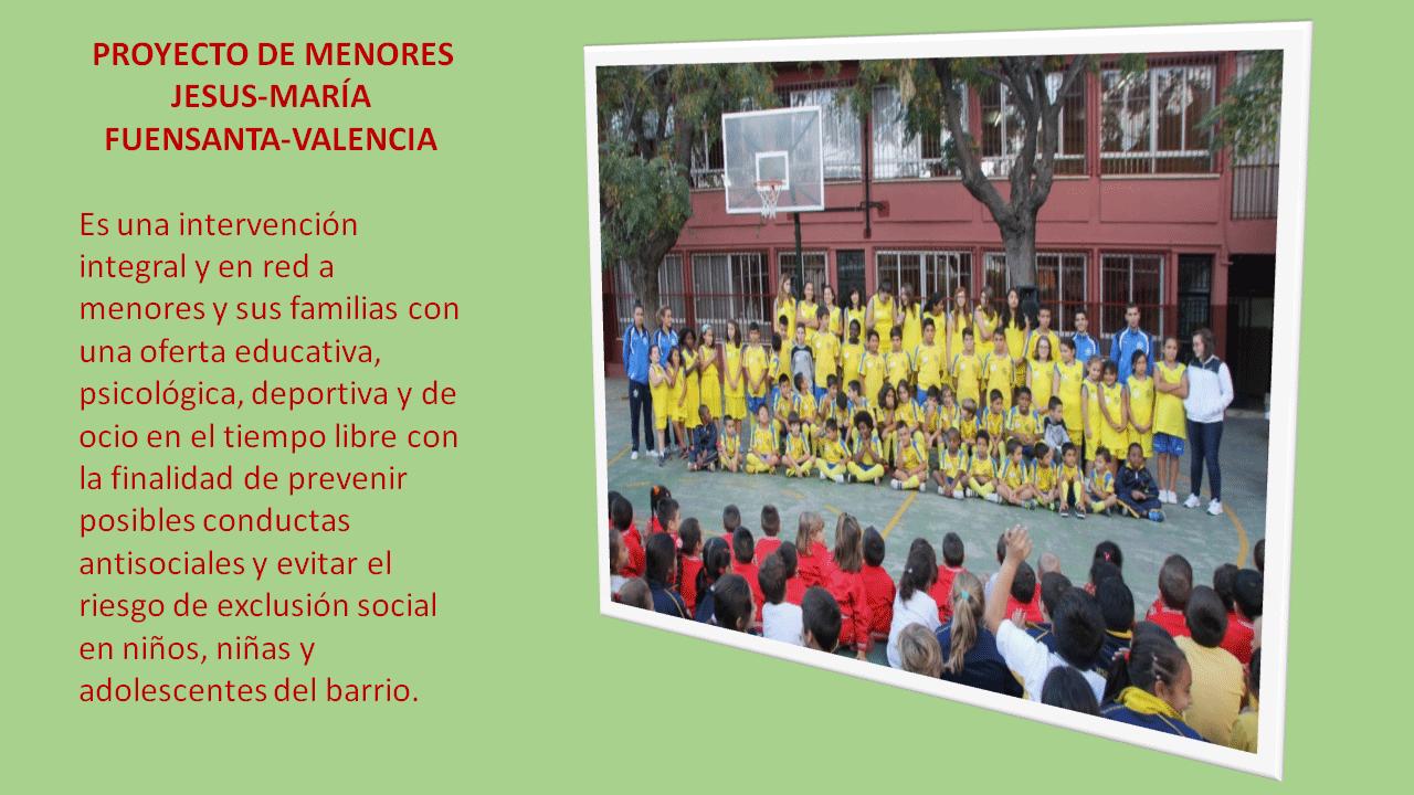 Proyecto de Menores de la Fuensanta (Valencia)