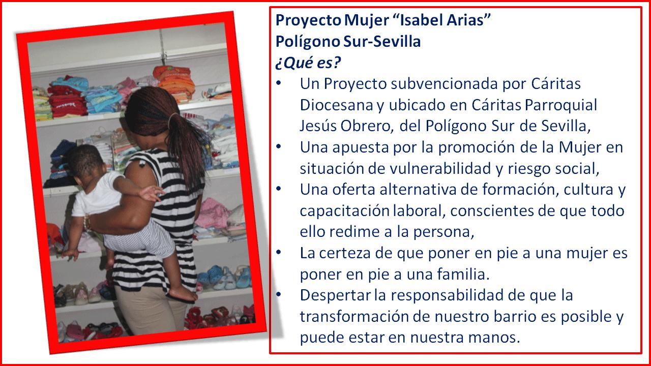 """Proyecto para mujeres """"Isabel Arias"""" (Sevilla)"""